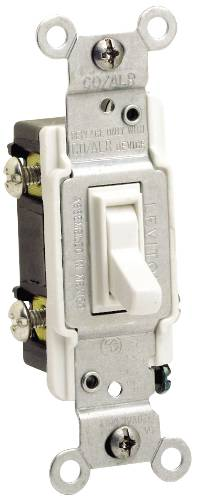 CO/ALR AC QUIET 3 WAY TOGGLE SWITCH 15 AMPS IVORY