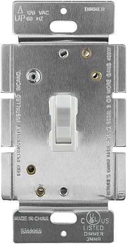 DIMMER-TOGGLE, 3 WAY, WHITE