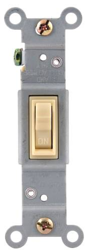 SINGLE POLE 15AMP SWITCH ALMOND