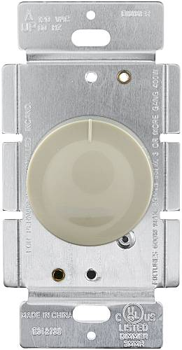 DIMMER-ROTARY PUSH SINGLE POLE IVORY