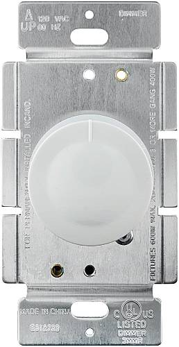 DIMMER-ROTARY PUSH SINGLE POLE WHITE