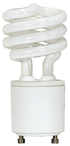 SPIRAL ELECTRONIC COMPACT FLUORESCENT LAMP GU24 BASE 13 WATT