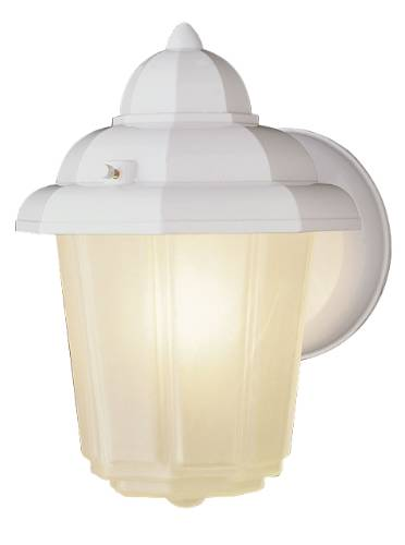1 LIGHT OUTDOOR WALL LANTERN WHITE