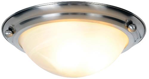 LUNAR BAY FLUSH MOUNT CEILING FIXTURE WITH TWO 13 WATT PL TYPE F