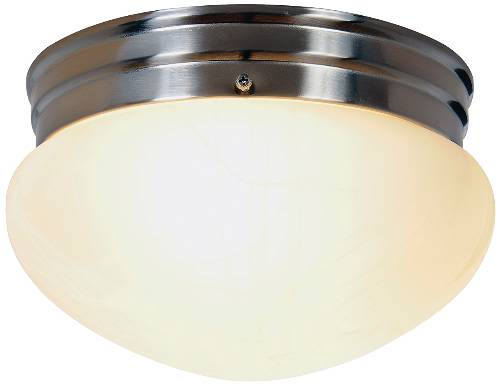 CONTEMPORARY FLUSH MOUNT CEILING FIXTURE WITH TWO 13 WATT GU24 T