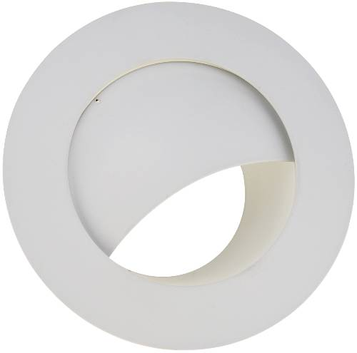 RECESSED LIGHTING METAL WALL WASHER TRIM 6 IN. WHITE