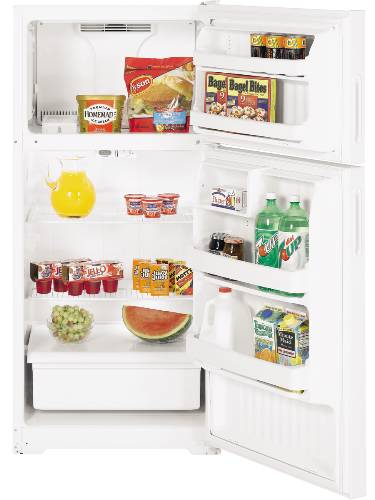 GE REFRIGERATOR TOP-FREEZER 15.6 CU. FT. WHITE