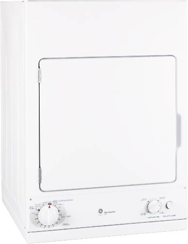 GE SPACEMAKER® 240V STATIONARY ELECTRIC DRYER WHITE