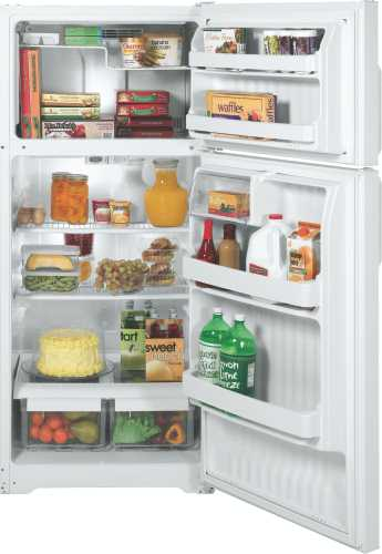 GE 16.5 CU. FT. TOP FREEZER REFRIGERATOR WHITE