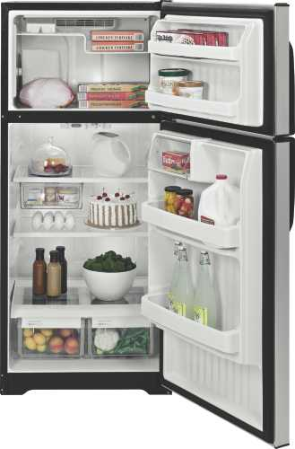 GE CLEANSTEEL 16.5 CU. FT. TOP FREEZER REFRIGERATOR