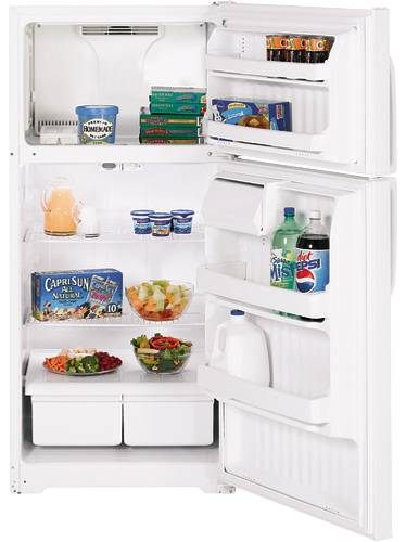 GE 15.7 CU. FT. TOP FREEZER REFRIGERATOR WHITE