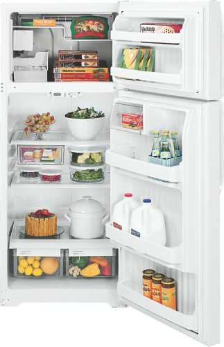 GE 18.2 CU. FT. TOP FREEZER REFRIGERATOR WITH ICEMAKER WHITE