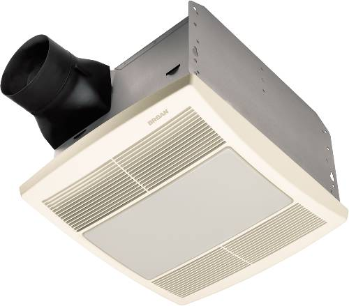 BROAN EXHAUST FAN WITH LIGHT 1.0 SONE 80 CFM