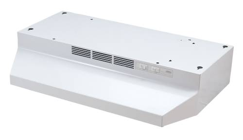 BROAN 41000 SERIES DUCTLESS RANGE HOOD 24 IN. WHITE