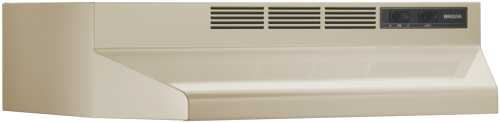 BROAN 41000 SERIES DUCTLESS RANGE HOOD 24 IN. ALMOND