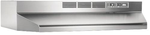 BROAN 41000 SERIES DUCTLESS RANGE HOOD 30 IN. STAINLESS STEEL