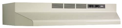 BROAN 41000 SERIES DUCTLESS RANGE HOOD 36 IN. ALMOND