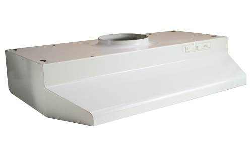 BROAN 42000 SERIES ROUND DUCTED RANGE HOOD 30 IN. WHITE