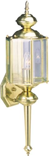 1 LIGHT OUTDOOR SOLID BRASS WALL LANTERN POLISHED BRASS
