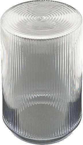 RIBBED THREADED CYLINDER 5-3/4 IN. CLEAR PLASTIC