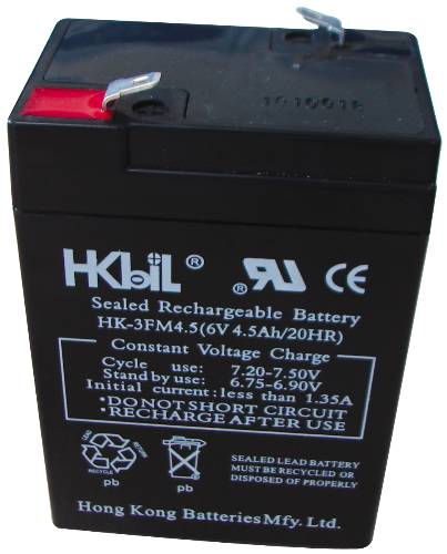 RECHARGEABLE REPLACEMENT BATTERY FOR EMERGENCY EXIT LIGHT 6 VOLT