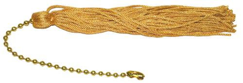 PULL CHAIN TASSLE GOLD