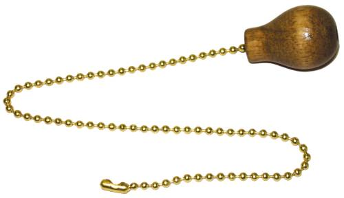PULL CHAIN WITH WALNUT BALL