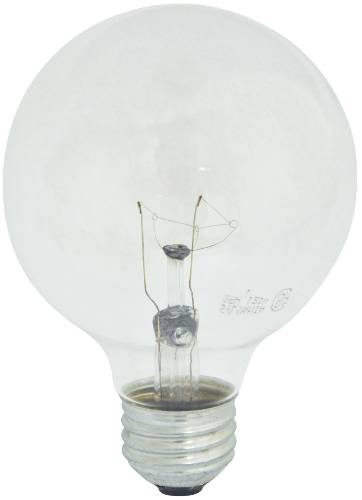 G25 MEDIUM BASE 25 WATT 120 VOLT GLOBE LIGHT BULB WHITE