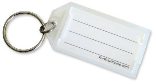 LUCKY LINE PLASTIC ID TAG WITH KEY RING