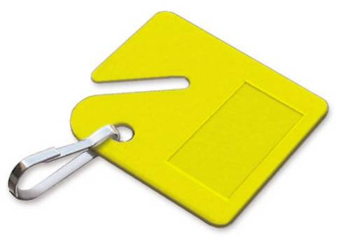 LUCKY LINE KEY CABINET TAG YELLOW