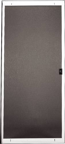 ADJUSTABLE PATIO SCREEN DOORS, 36 IN. WIDE WHITE