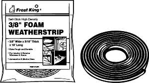 FROST KING® FOAM RUBBER WEATHERSTRIP TAPE