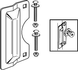 DOOR LATCH GUARD 7 IN. HEAVY DUTY