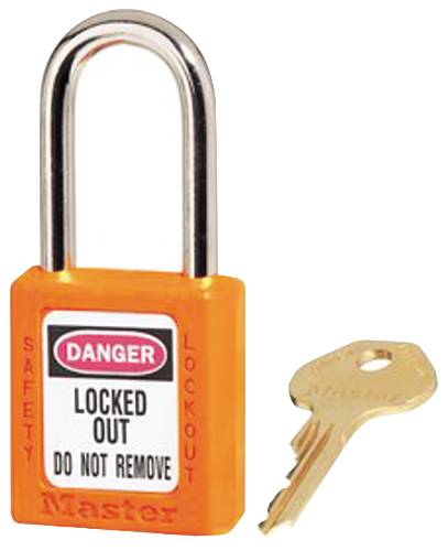 MASTER LOCK 410 SAFETY LOCKOUT PADLOCK ORANGE