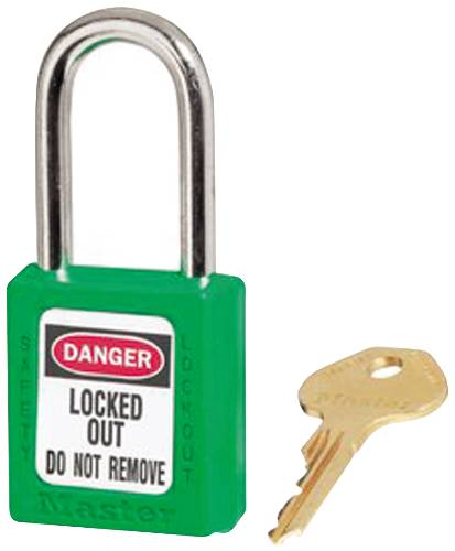 MASTER LOCK 410 SAFETY LOCKOUT PADLOCK GREEN