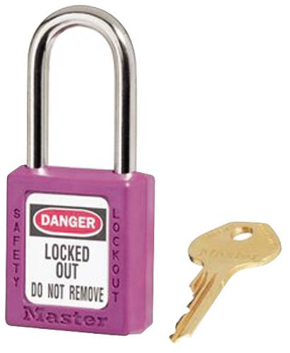 MASTER LOCK 410 SAFETY LOCKOUT PADLOCK PURPLE