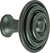 CABINET KNOB 1-1/2 IN. OIL RUBBED BRONZE