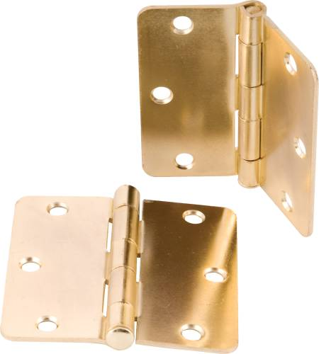 ANVIL MARK BUTT HINGES 3-1/2 IN. 1/4 IN. RADIUS BRIGHT BRASS