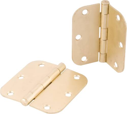 ANVIL MARK BUTT HINGES 3-1/2 IN. 5/8 IN. RADIUS BRIGHT BRASS
