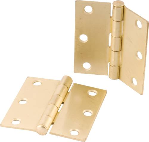 ANVIL MARK BUTT HINGES 3-1/2 IN. BRIGHT BRASS