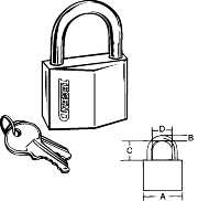LEGEND PADLOCK 1-1/2 IN.