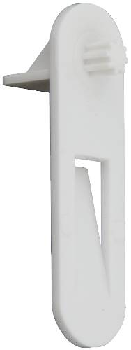 CABINET SHELF BRACKET 1/4 IN. WHITE