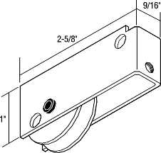 PATIO DOOR ROLLER ASSEMBLY