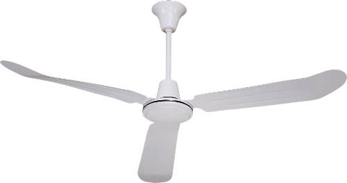 BALA® INDUSTRIAL CEILING FAN WITH THREE BLADES, 56 IN., WHITE ON