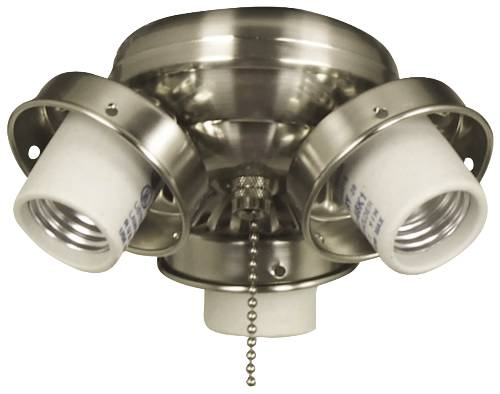3 CANDELABRA LIGHT FITTER BRUSHED CHROME