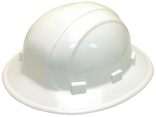 HARD HAT WITH FULL BRIM