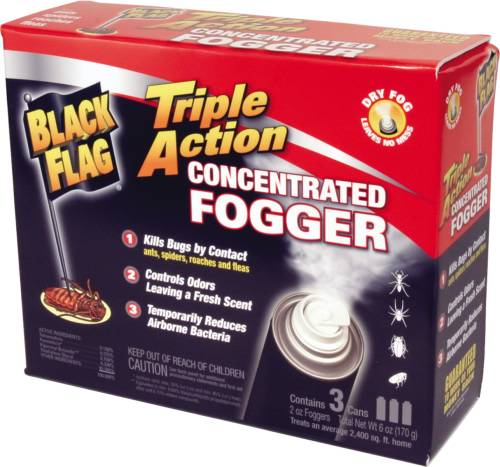 BLACK FLAG INDOOR FOGGER TRIPLE ACTION CONCENTRATED 2 OZ