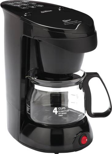 COFFEE MAKER 4 CUP, BLACK