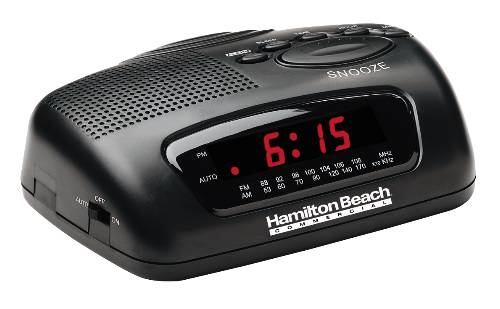HAMILTON BEACH AM/FM CLOCK RADIO