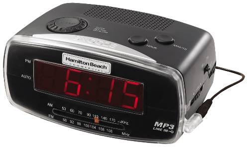CLOCK RADIO AM/FM MP3 READY